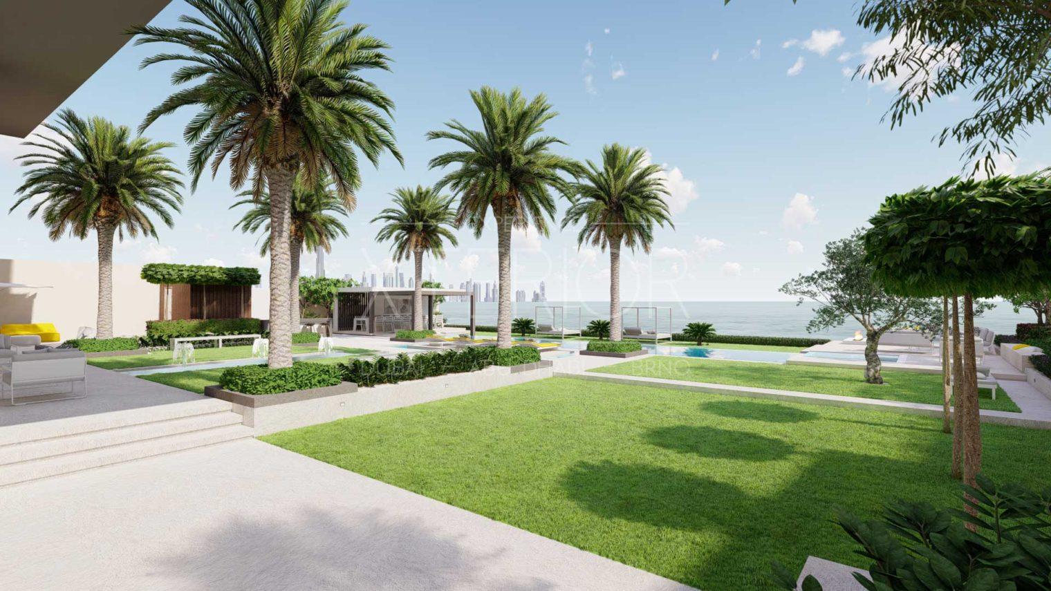 BVLGARI RESIDENCES Outdoor-Landscape-Design-Dubai