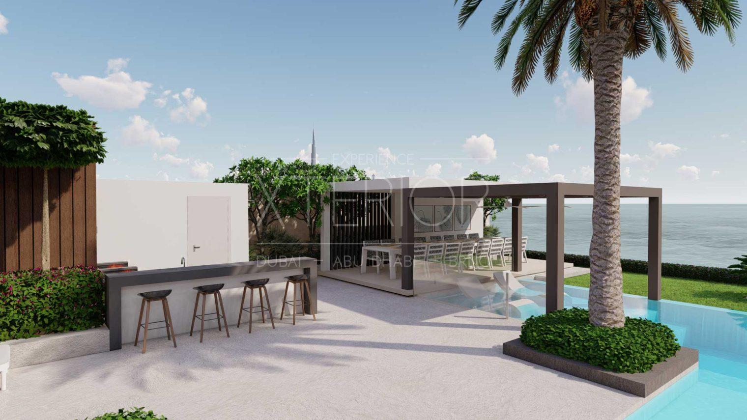 BVLGARI RESIDENCES Outdoor-Pergola-and-Barbecue-Design
