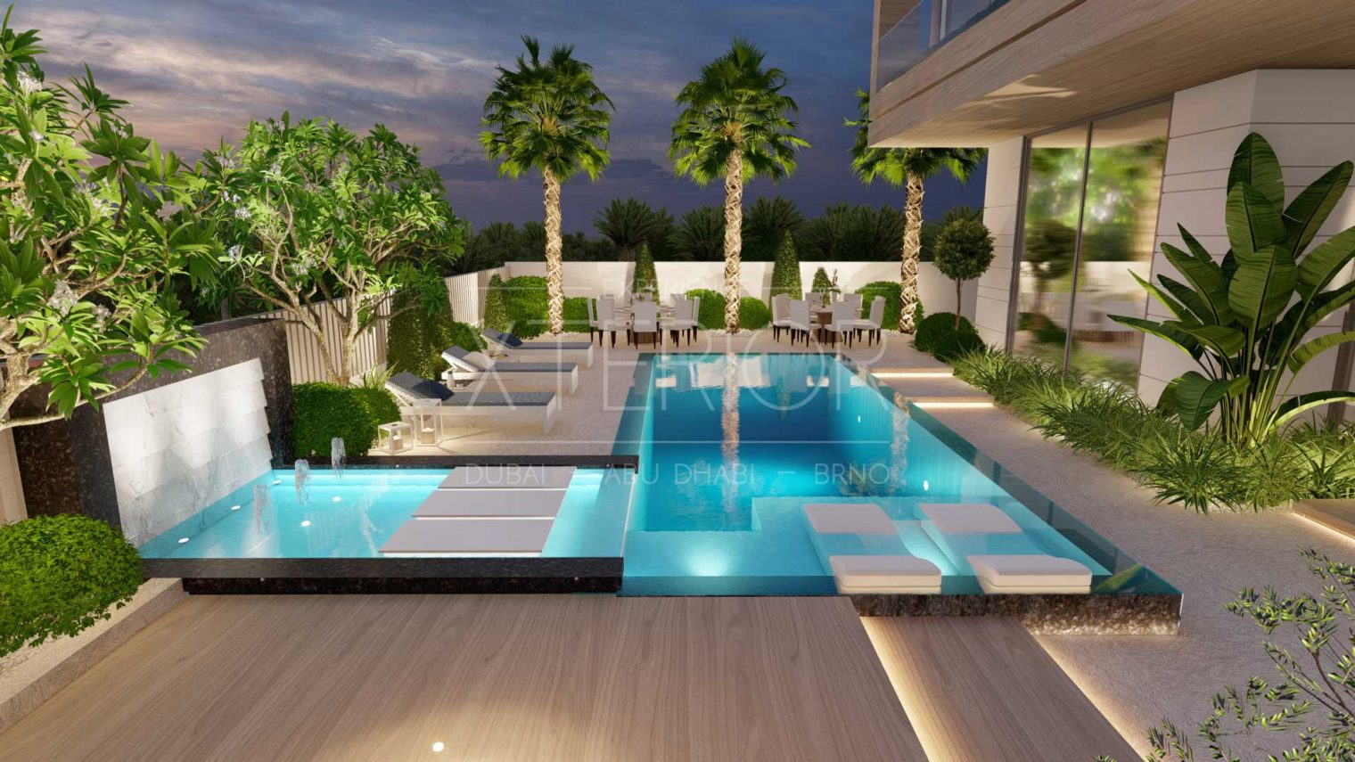 Pool water feature design and build company